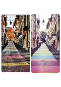 mosaic colored street