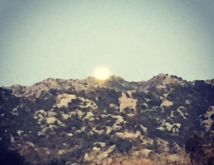 moonlight over the mountain